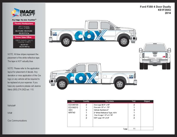 Ford F350 - Dually - 2014 - Residential - Complete Kit