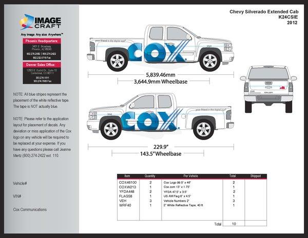 Chevy Silverado Extended Cab 2012 - A la Carte