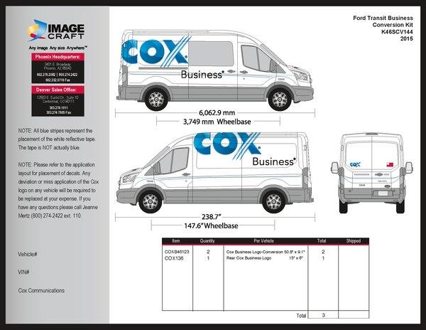 Ford Transit 2015 - Business - Conversion Kit