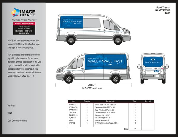 Ford Transit - Wall to Wall Fast - 2016 - A la Carte