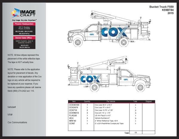 Bucket Truck F550 2015 - with Walkway Complete Kit