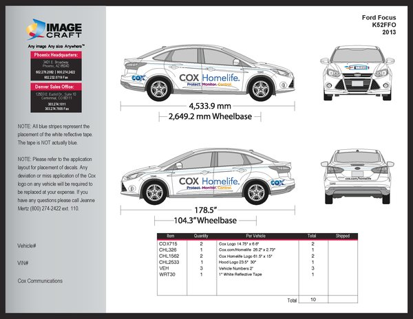 Ford Focus 2013 - Homelife - Complete Kit