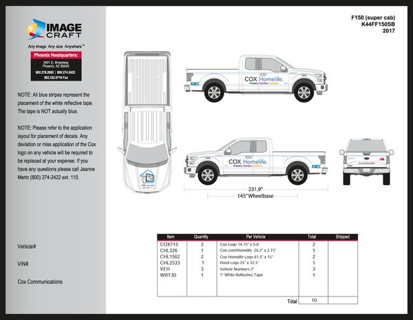 Ford F150 (super cab) 2017 - Homelife - Complete Kit