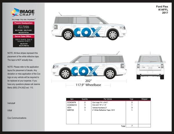 Ford Flex 2017 - Complete Kit