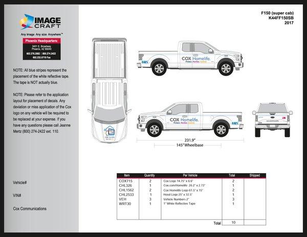 Ford F150 (super cab) 2017 - Homelife - A la Carte