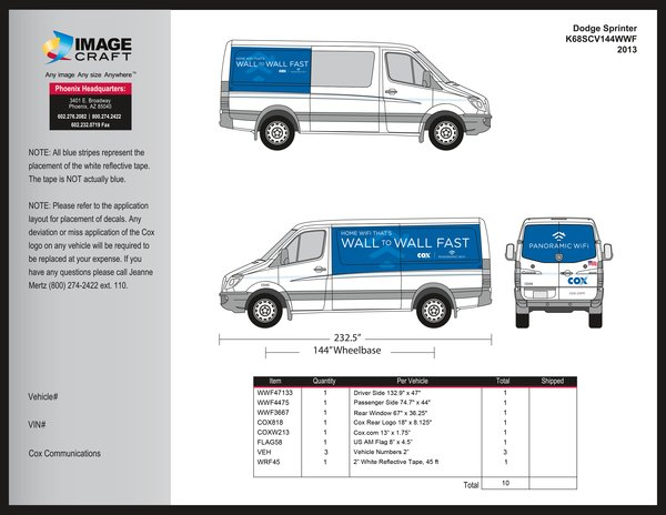Dodge Sprinter - Wall to Wall Fast - 2013 - Complete Kit