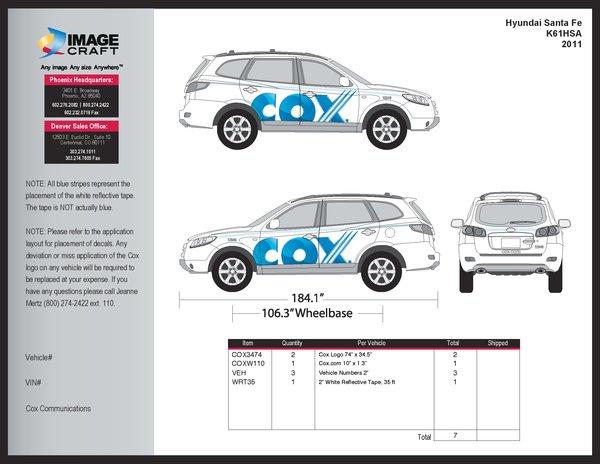 Hyundai Santa Fe- 2011 - Complete Kit