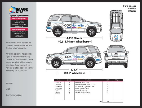 Ford Escape 2008/09 - Complete Kit