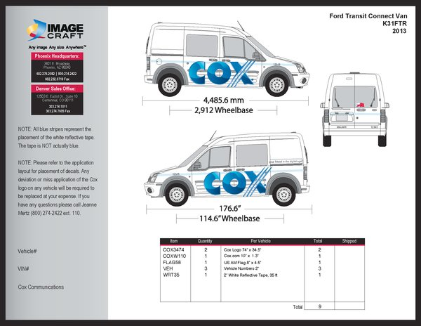 Ford Transit Connect Van - 2013 - Complete Kit