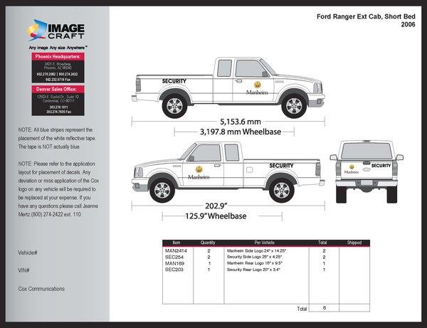 Ford Ranger, Extended Cab, SB 2006 - Manheim - Kit