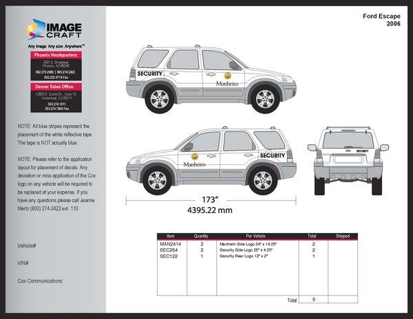 Ford Escape, 2006 - Manheim - Complete Kit