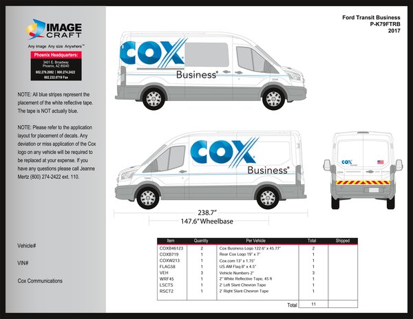 Ford Transit 2015-2018 - Business - Complete Kit (480)