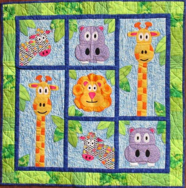 Blake's Jungle   quilt patterns, baby quilts, J&AStitches : jungle quilt pattern - Adamdwight.com