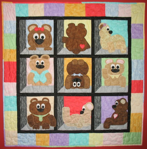 Teddy Bear Quilt | quilt patterns, baby quilts, J&AStitches : bear quilt patterns - Adamdwight.com