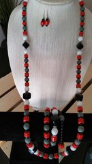 Red, White, Black, Gray Jewelry Bundle