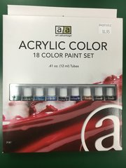 Acrylic Color Paint 18pc Set (ART3187)
