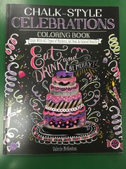 Chalk-Style Celebrations Coloring Book (SBK00076)