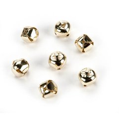 "Gold Jingle Bells 3/8"" 18 pieces"
