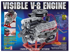 Revell VISIBLE V-8 1/4 Scale Plastic Model Engine Kit (RVL8883)