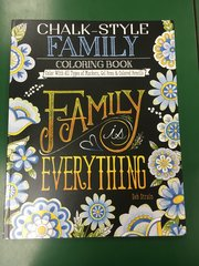 Chalk-Style Family Coloring Book (SBK00077)
