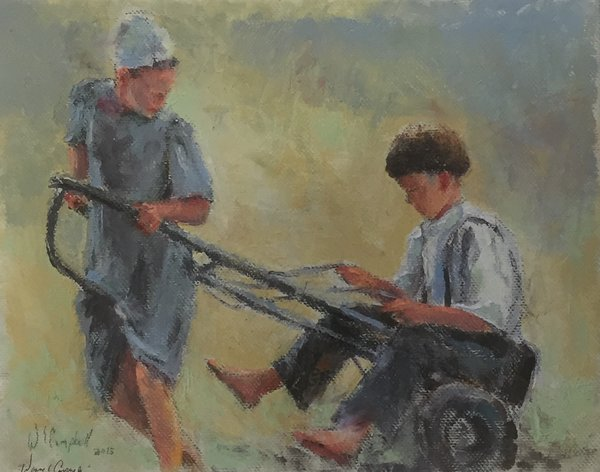 Giclee Print of (Horse Play) from Oil Paintings by Wayne E Campbell