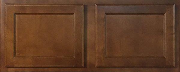 Bristol Brown 36w x 18h wall bridge cabinet