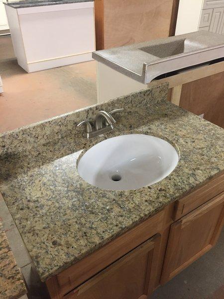 elegant inch right with top left popular throughout big walnut magick bathroom vanity d granite beige in x sink offset woods cultured w