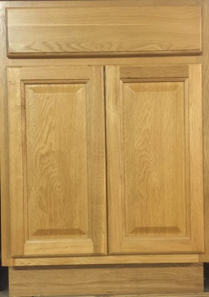 Hartford Oak base cabinet 24w x 24d x 34.5h