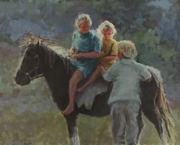 Giclee Print of (My Turn) from Oil Paintings by Wayne E Campbell