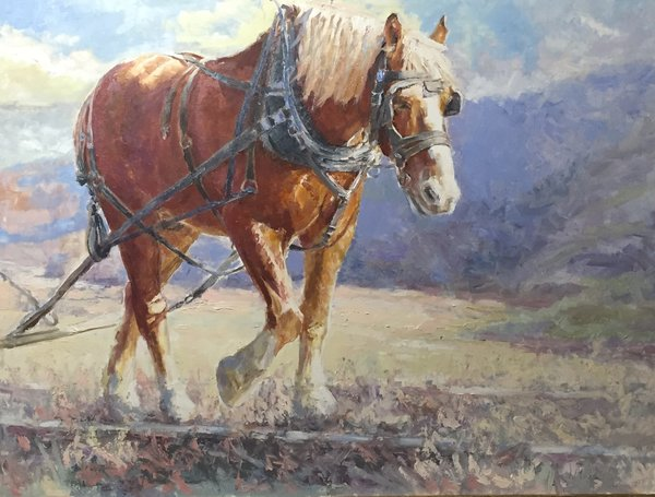 Oil Paintings by Wayne E Campbell (Joey On Tracks) 30x40