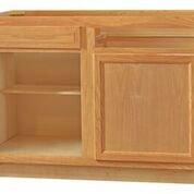 Chadwood Oak Blind Base Corner cabinet sets 48w x 24d x 34.5h (Local Pickup Only)