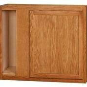 Chadwood Oak wall Corner cabinet 36w x 12d x 36h (Local Pickup Only)