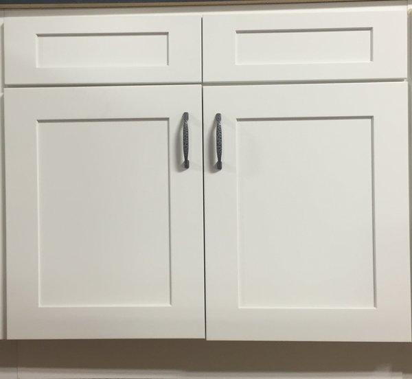 White Shaker base cabinet 39w x 24d x 34.5h