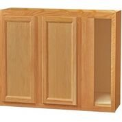 Chadwood Oak wall Corner cabinet 48w x 12d x 30h (Local Pickup Only)