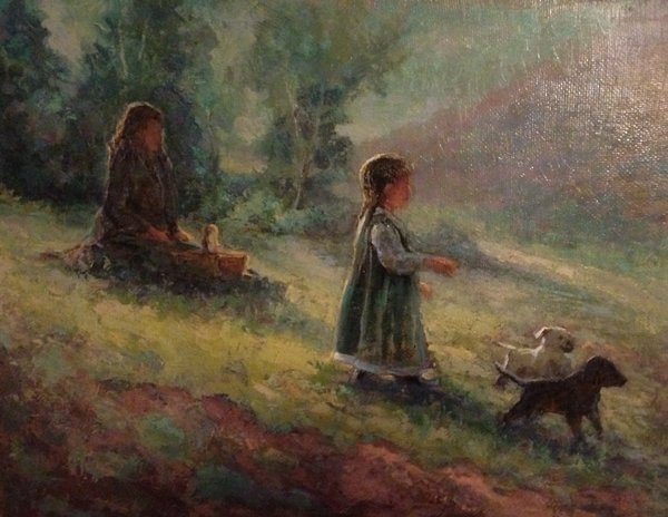 Oil Paintings by Wayne E Campbell (Looking For Daddy)
