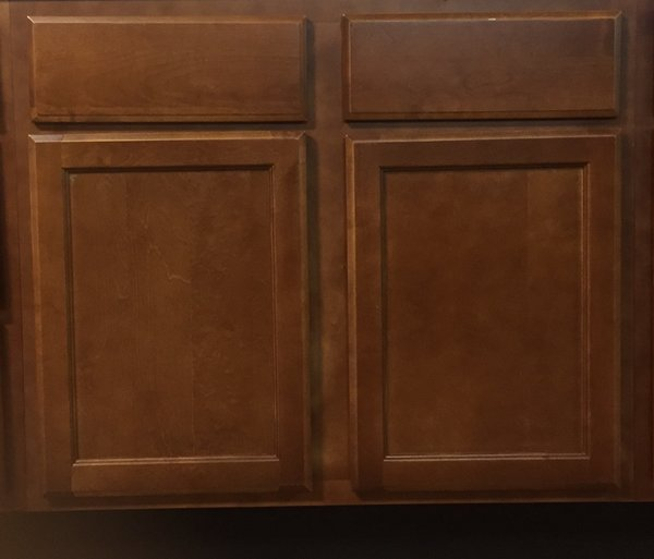 Bristol Brown Base Sink cabinet 36w x 24d x 34.5h
