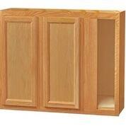 Chadwood Oak wall Corner cabinet 42w x 12d x 30h