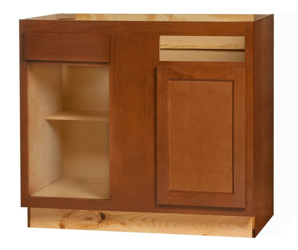 Glenwood Base Peninsula Corner cabinet 48w x 24d x 34.5h (Local Pickup Only)