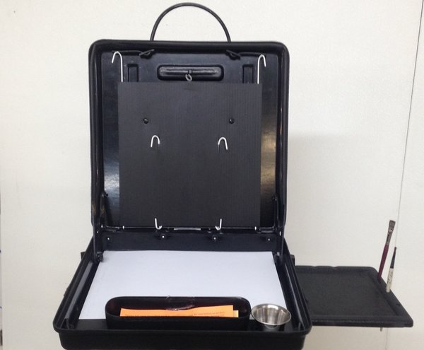 Pro Painting Safe Box Easel 16x16 & Side Tray with Heavy Duty Rigid Base Plate.