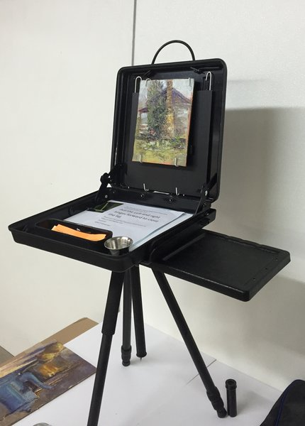 Artist Painting Safe Box Easel with Light Weight Base Plate,Side Tray and Tripod
