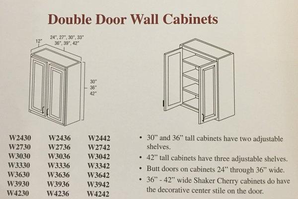 Hartford Oak wall cabinet 42w x 12d x30h
