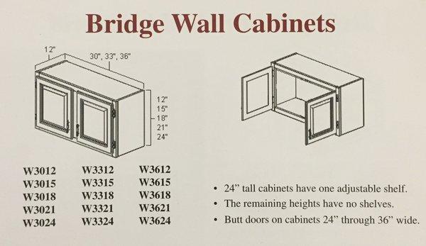 BGH 36x24 Bridge Wall Cabinet