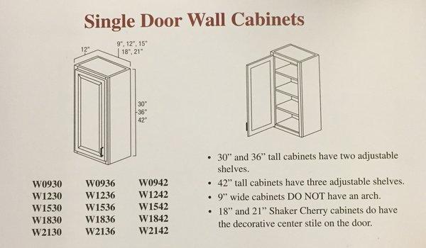 Hartford Oak wall cabinet 18w x 12d x 30h