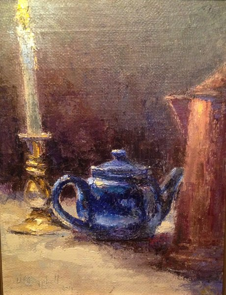 Oil Paintings by Wayne E Campbell (Blue Pot)18x14