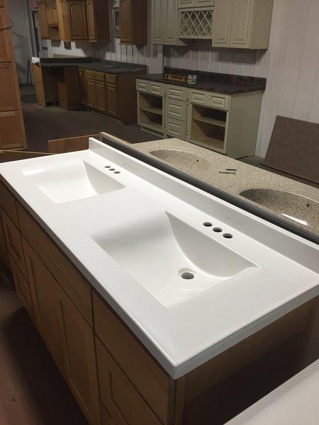 Bathroom vanity faucet - Cultured Marble Top Ar2261 Cabinet Barn