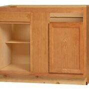 Chadwood Oak Base Peninsula Corner cabinet 48w x 24d x 34.5h (Local Pickup Only)
