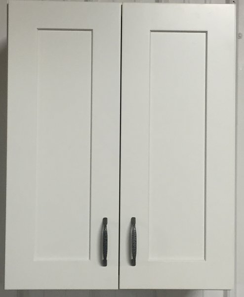 White Shaker wall cabinet 27w x 12d x 36h