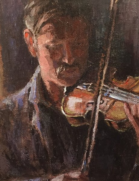 Oil Paintings by Wayne E Campbell (Me And My Fiddle)