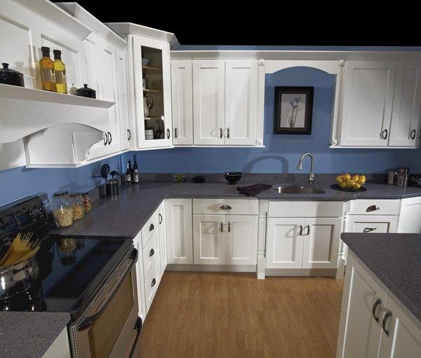 White Shaker average kitchen
