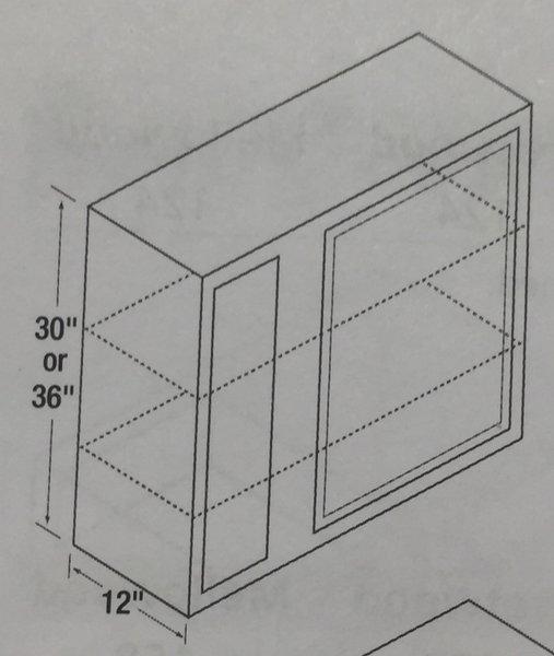 BGH 24x30 Wall Blind Corner Cabinet